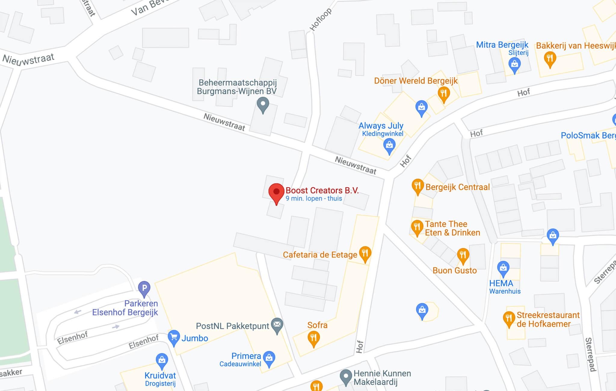 Boost Creators op Google maps