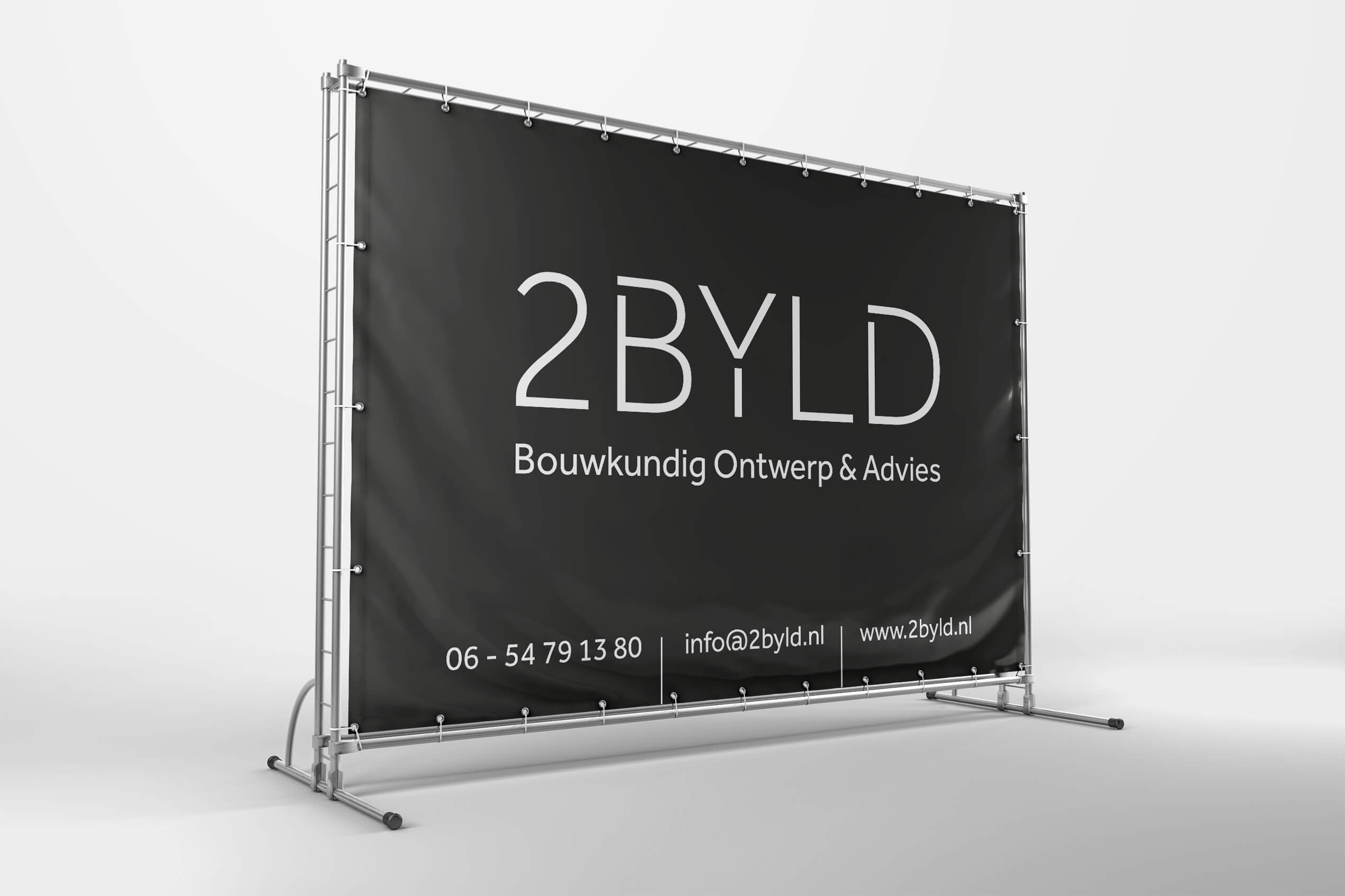 Bouwbord 2BYLD Bouwkundig ontwerp & advies