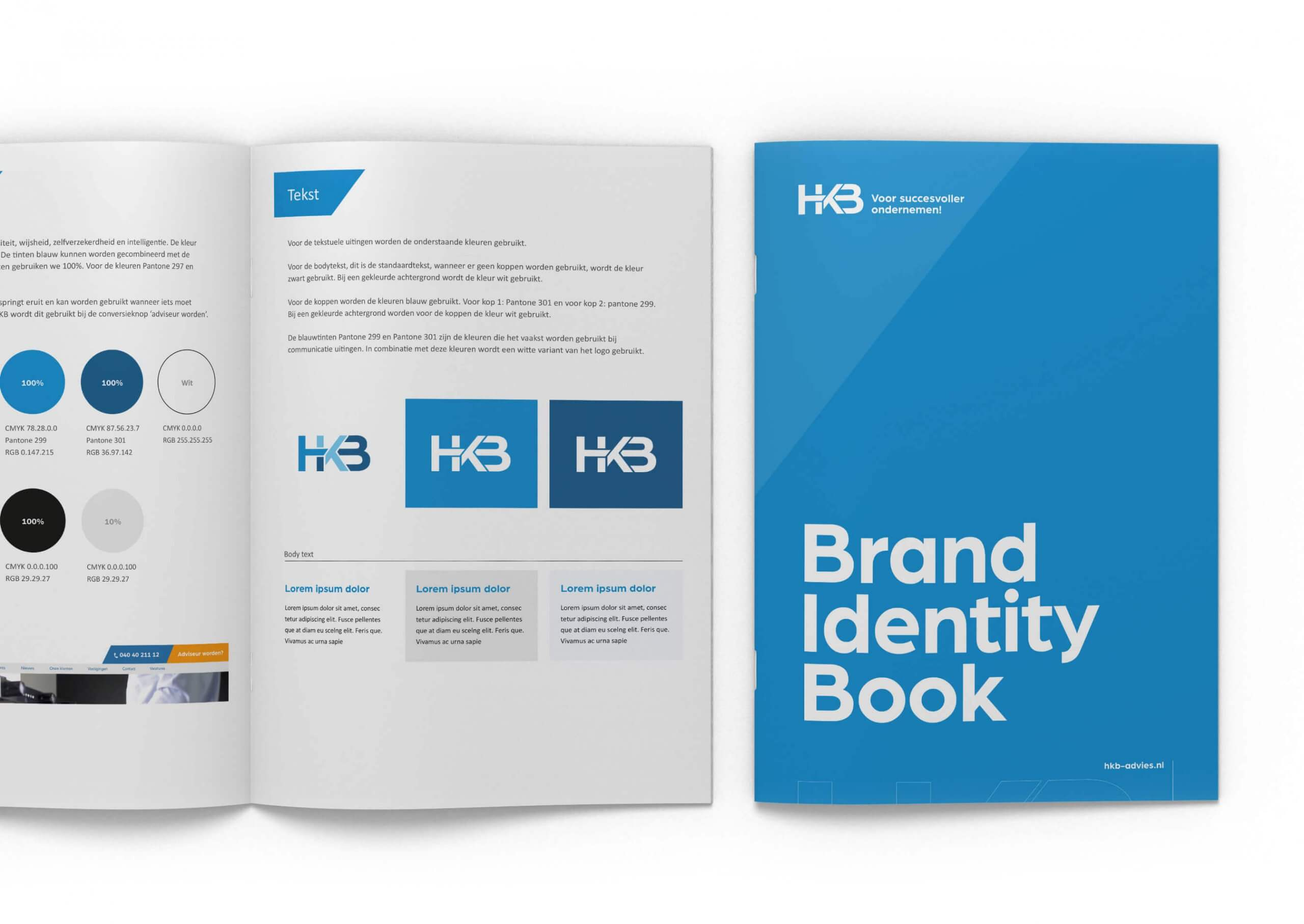 Brand Identity book HKB Advies