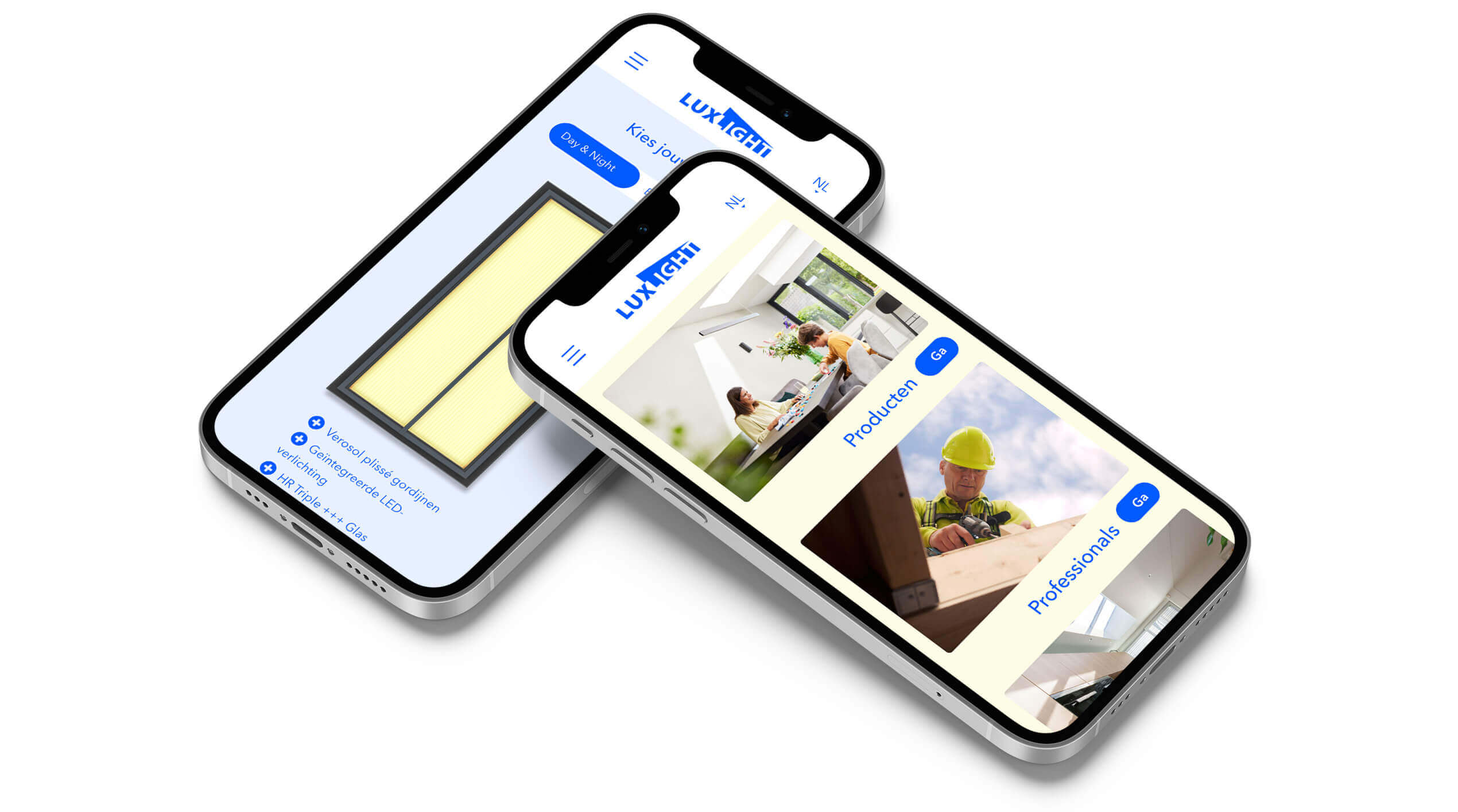 Luxlight website mobile responsive