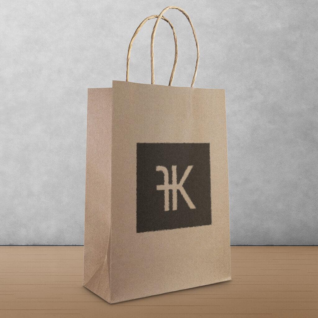 Papieren kleding tas Franken kleding Bergeijk