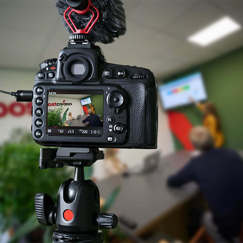 Videoshoot presentatieruimte Boost Creators