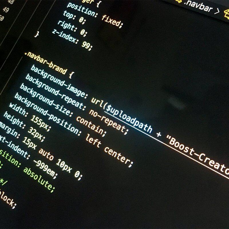 Website scss-code voorbeeld