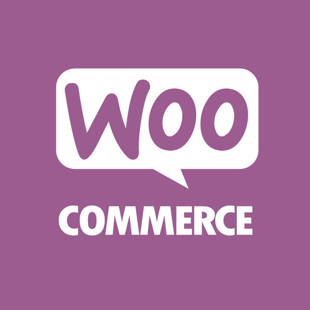 Woo Commerce logo inverted