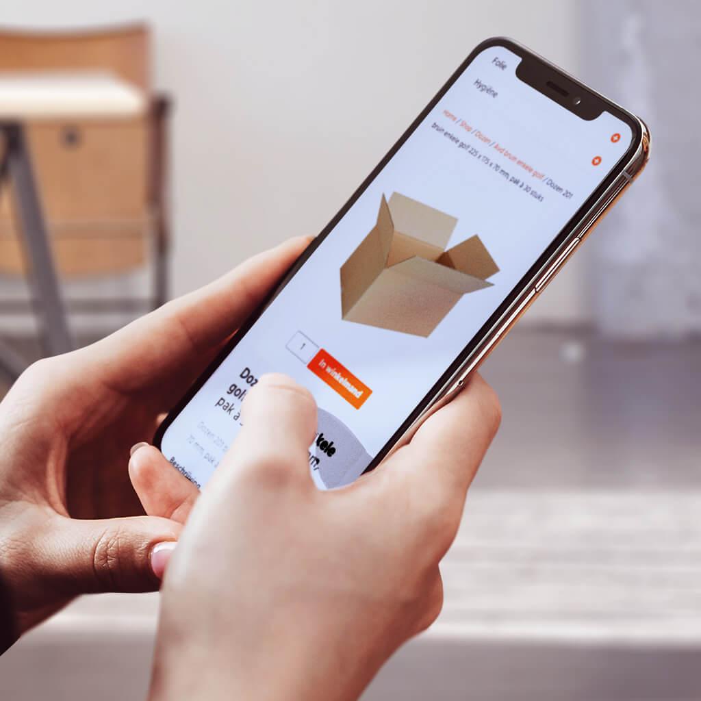 Woo Commerce webshop op iPhone
