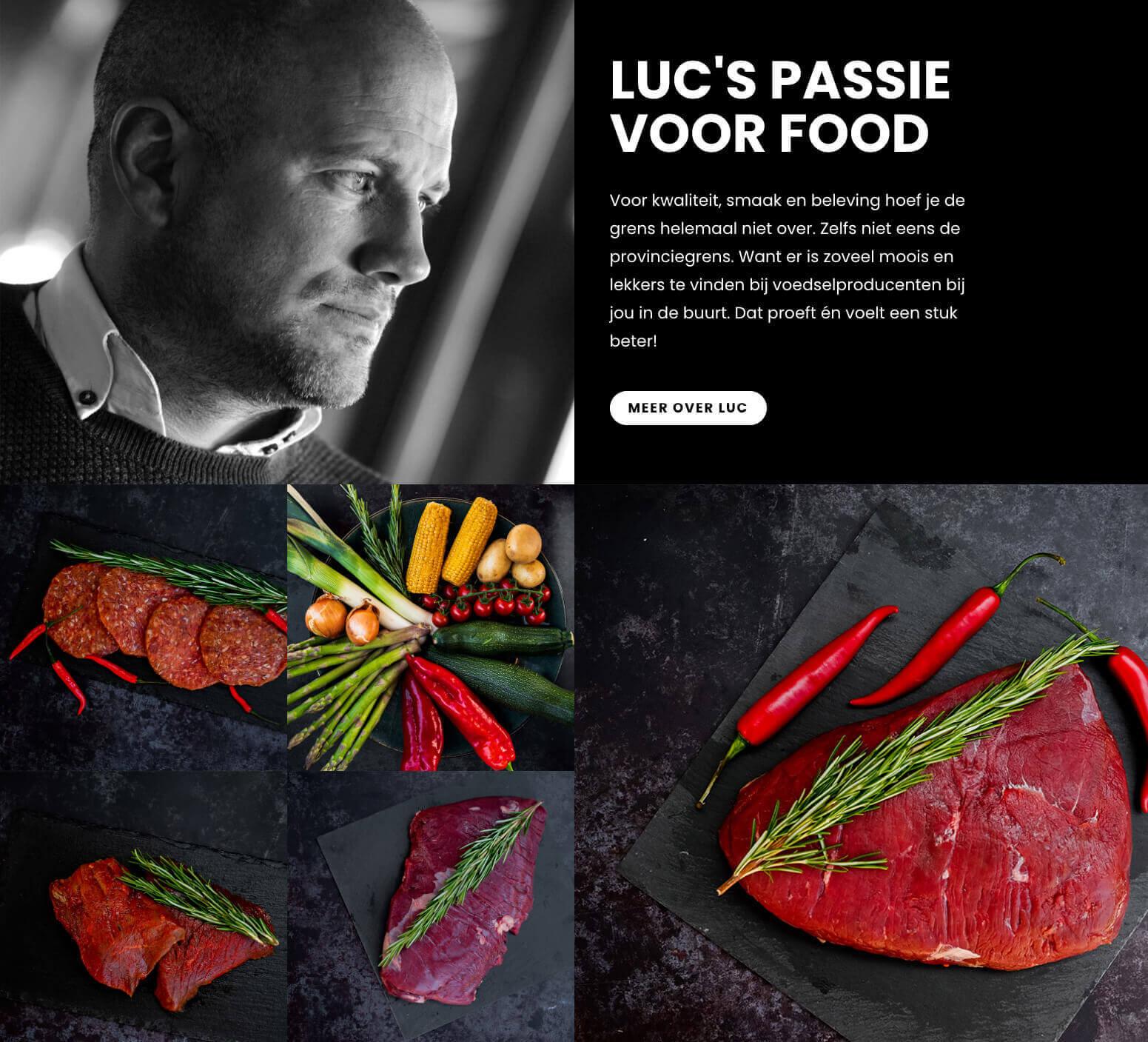Impressie website Luc's boxen